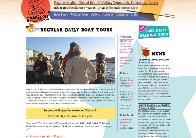 Anglotourismo Website