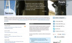 Arcadia, ZAO homepage